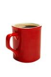 Copo vermelho do café Fotografia de Stock