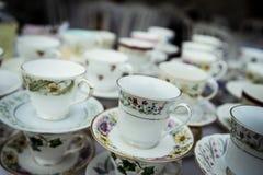 Copos borrados da porcelana Imagem de Stock Royalty Free