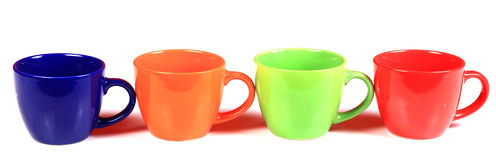 Copos coloridos Imagem de Stock