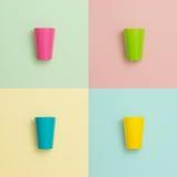 Copos coloridos Fotos de Stock