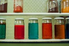 Copos com líquido Imagem de Stock
