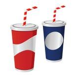 Copos da bebida da soda ilustração royalty free