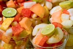 Copos da fruta Fotos de Stock