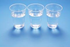 Copos de água Imagens de Stock Royalty Free