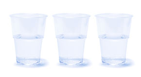 Copos de água Fotos de Stock