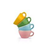 Copos de café coloridos Imagens de Stock