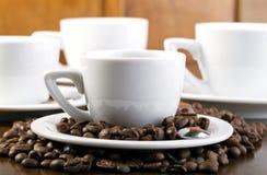 Copos de café do café Imagem de Stock Royalty Free
