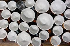 Copos de café do café e do latte Fotos de Stock Royalty Free
