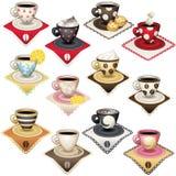Copos de café do projeto Imagens de Stock Royalty Free