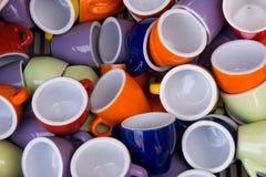 Copos de café italianos Fotos de Stock