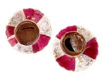 Copos de café turco Fotografia de Stock Royalty Free
