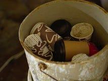 Copos de café usados foto de stock