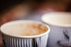 Copos de café usados Imagens de Stock Royalty Free