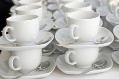 Copos de café vazios Foto de Stock Royalty Free
