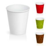 Copos de café vazios do cartão Imagem de Stock Royalty Free