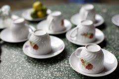 Copos de chá Imagem de Stock Royalty Free