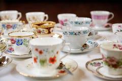 Copos de chá Imagens de Stock