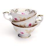 Copos de chá antigos Fotos de Stock Royalty Free