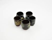 Copos de chá antigos Foto de Stock Royalty Free