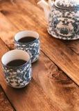 Copos de chá chineses imagens de stock