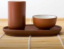 Copos de chá chineses Imagem de Stock Royalty Free