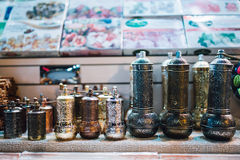 Copos de chá em Istambul Imagens de Stock