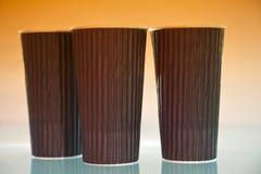 Copos de Coffe Imagem de Stock