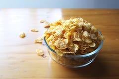 Copos de maíz de oro Imagen de archivo libre de regalías