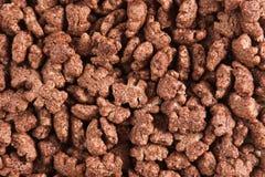 Copos de maíz del chocolate imagen de archivo