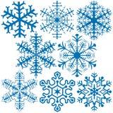Copos de nieve A Fotografía de archivo