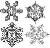 Copos de nieve Fotos de archivo libres de regalías