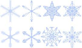 Copos de nieve 8 en 1 stock de ilustración