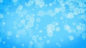 Copos de nieve almacen de metraje de vídeo