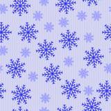 Copos de nieve abstractos azules Fotografía de archivo libre de regalías