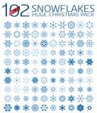 102 copos de nieve abstractos de la Navidad Foto de archivo libre de regalías