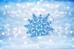Copos de nieve abstractos Defocused en bokeh de la nieve Imágenes de archivo libres de regalías