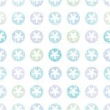 Copos de nieve abstractos Dots Seamless Pattern de la materia textil Fotografía de archivo libre de regalías