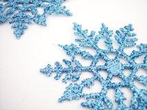 Copos de nieve azules 2 Imagenes de archivo