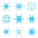 Copos de nieve azules Fotografía de archivo