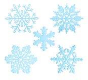 Copos de nieve azules Foto de archivo