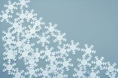 Copos de nieve blancos fotografía de archivo