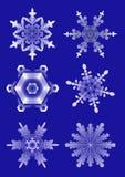 Copos de nieve blancos ilustración del vector