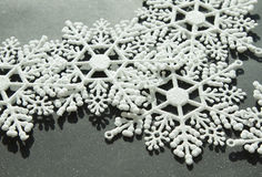 Copos de nieve blancos Fotos de archivo
