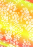 Copos de nieve blancos en el fondo iridiscente Fotografía de archivo libre de regalías