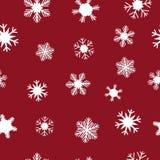 Copos de nieve blancos para la Navidad Fotos de archivo