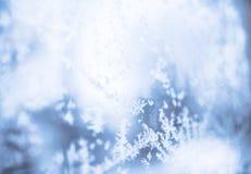 Copos de nieve borrosos Foto de archivo