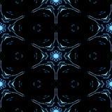 Copos de nieve congelados inconsútiles abstractos en textura del invierno stock de ilustración