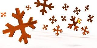 Copos de nieve cristalinos Fotografía de archivo
