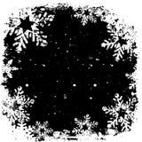Copos de nieve de Grunge Foto de archivo libre de regalías