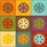 Copos de nieve de Grunge Imagen de archivo